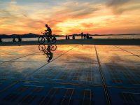 zadar-cyclist-sunset