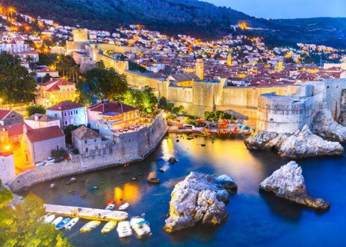 Dubrovnik at dusk.